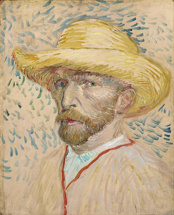 5-self-portrait-with-straw-hat-vincent-van-gogh
