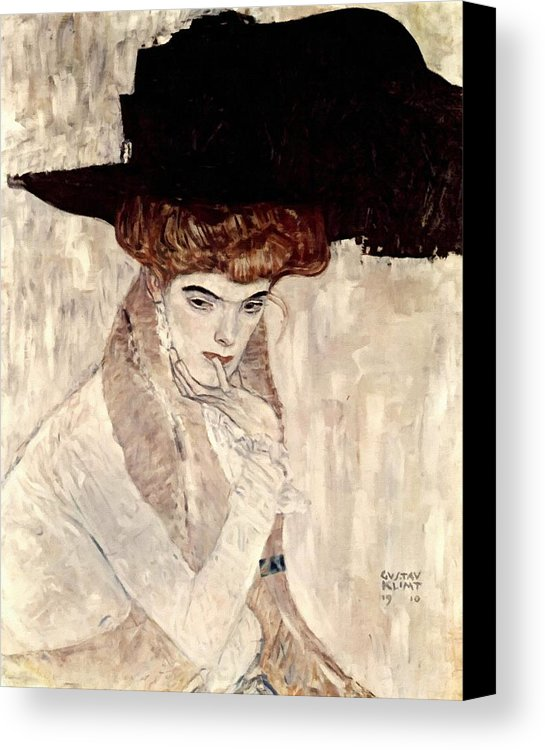 lady-with-feather-hat-gustav-klimt-canvas-print