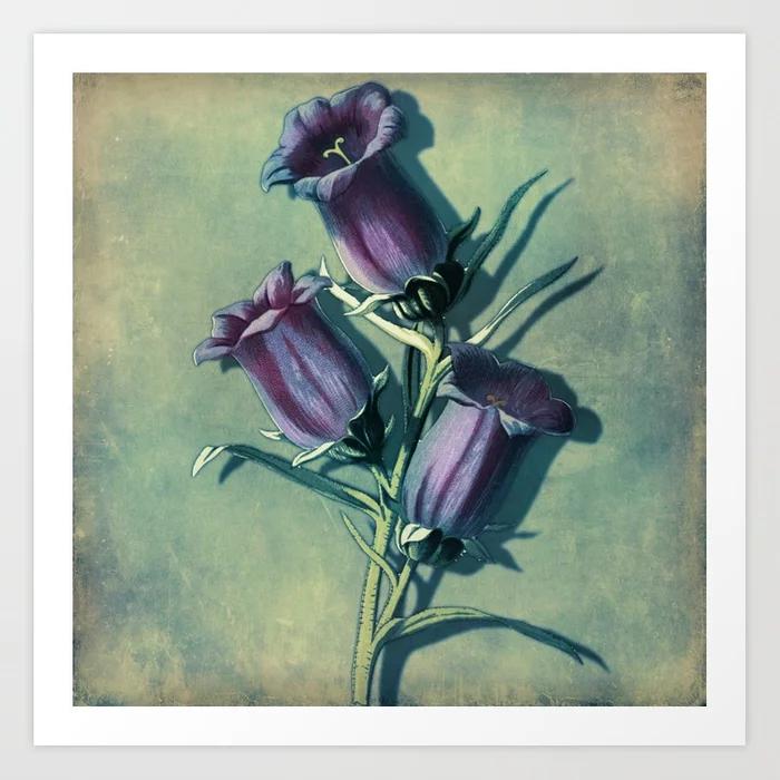 Garden Of Delights Purple Flowers Art Print