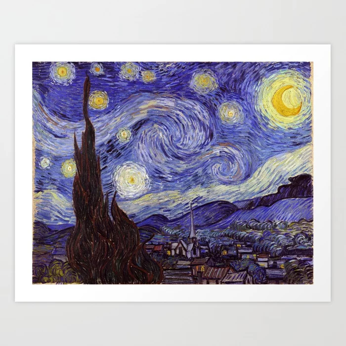art, artist, artistic, blue, celestial, clouds, cosmos, decoration, fine art, for art lovers, home decor, masterpiece, modern masters, moon, most famous, night, night sky, post impressionist, postimpressionismus, sky, star, starry, starry night, Starry Night Art Print, stars, sternennacht, stylish, swirl, swirling, swirling clouds, swirls, universe, Van Gogh, Van Gogh Starry Night Art Print, vincent, Vincent Van Gogh, Vincent Van Gogh Starry Night Art Print, vintage