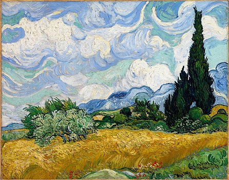 Vincent van Gogh Wheat Field with Cypresses (F717)
