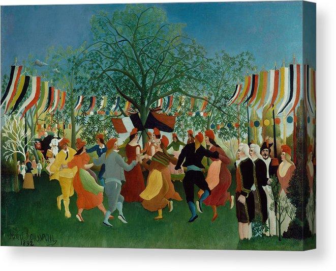 Henri Rousseau A Centennial Of Independence Canvas Print