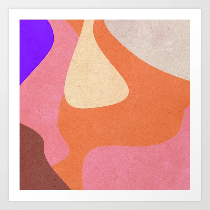 Abstract Retro Pattern Art Print