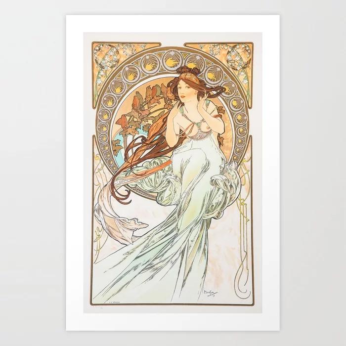 Alphonse Mucha Music Art Nouveau Art Print