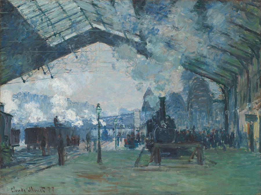 Claude Monet Arrival Of The Normandy Train