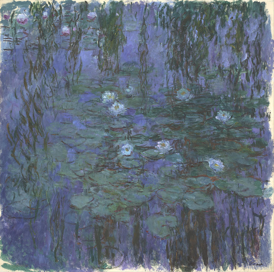 Claude Monet Blue Water Lilies