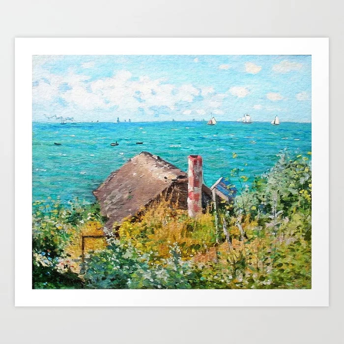 Claude Monet The Cabin At Saint-Adresse Art Print