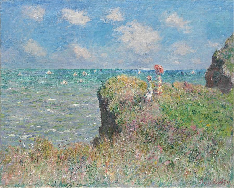 Claude Monet Cliff Walk At Pourville