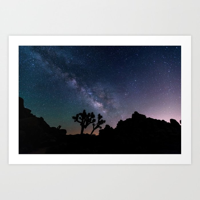 Desert Night Sky Photography Art Print