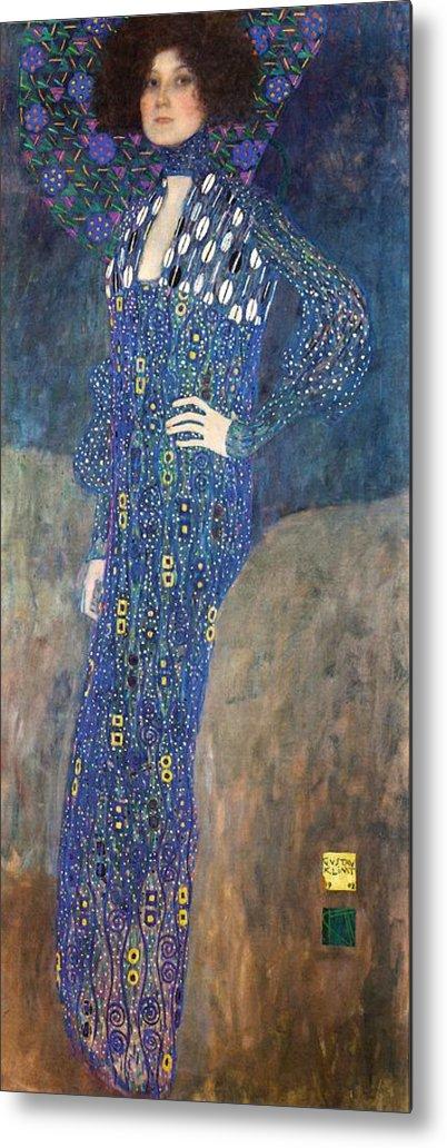 Gustav Klimt Emilie Floege Metal Print