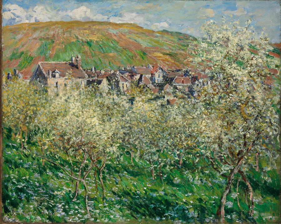 Claude Monet Flowering Plum Trees