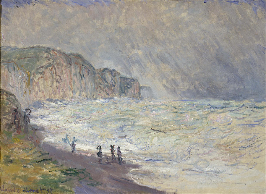 Claude Monet Heavy Sea At Pourville