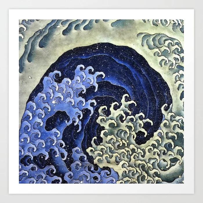 Hokusai Feminine Wave Japanese Vintage Art Print