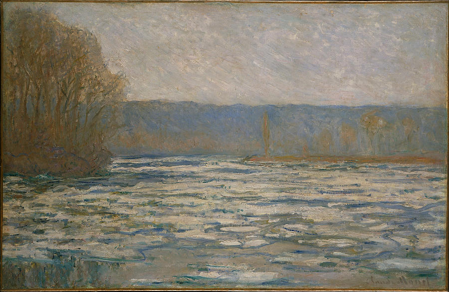 Claude Monet Ice Breaking Up On The Seine