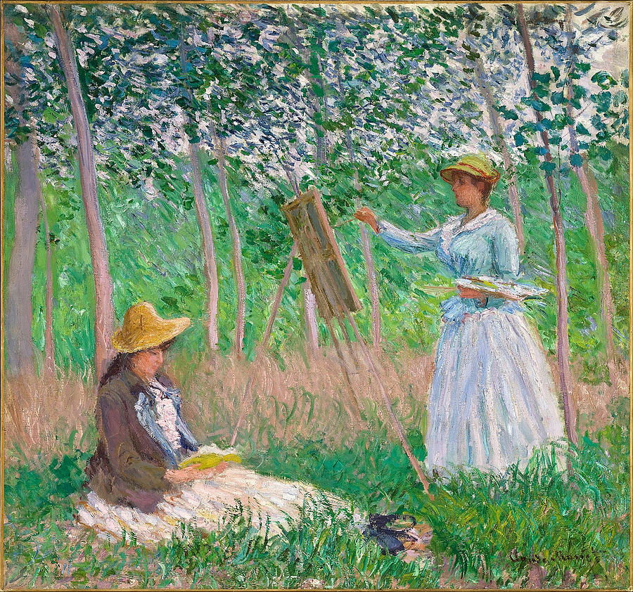 Claude Monet In The Woods At Giverny