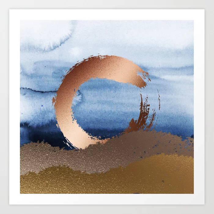 Philip Bowman Inspiration: Gold, Copper And Blue Art Print