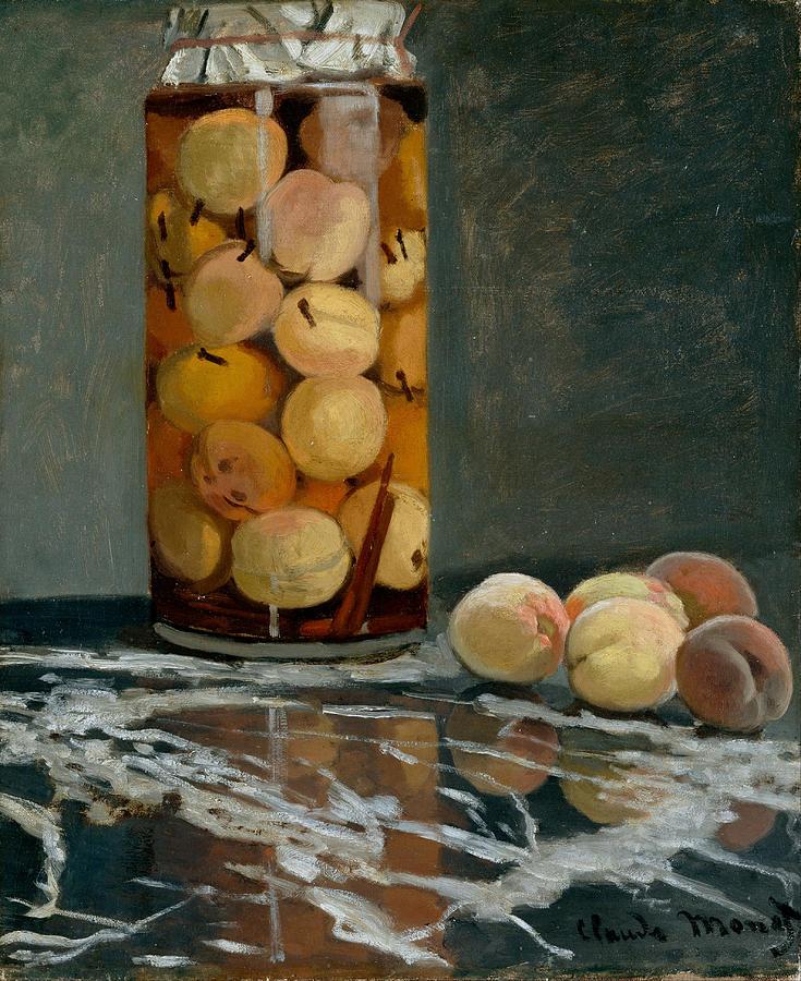 Claude Monet Jar Of Peaches