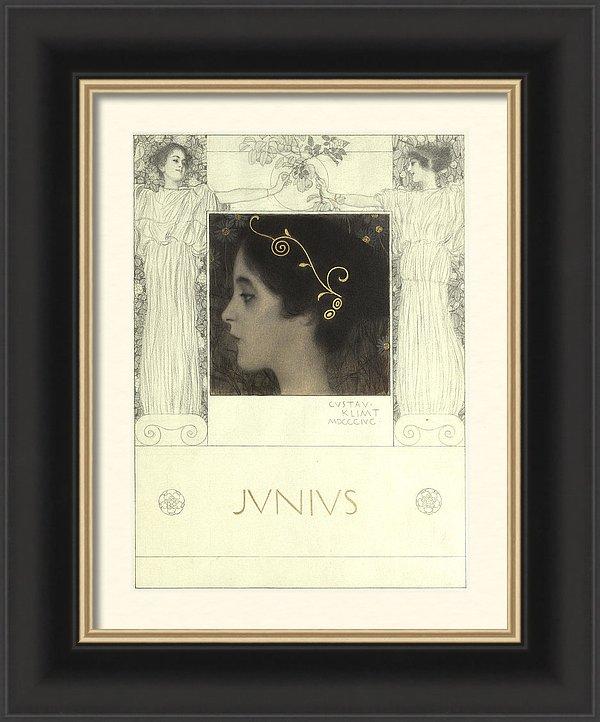 Gustav Klimt Junius Framed Print