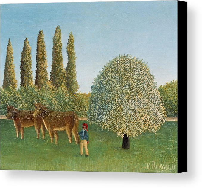 Henri Rousseau Meadowland Canvas Print