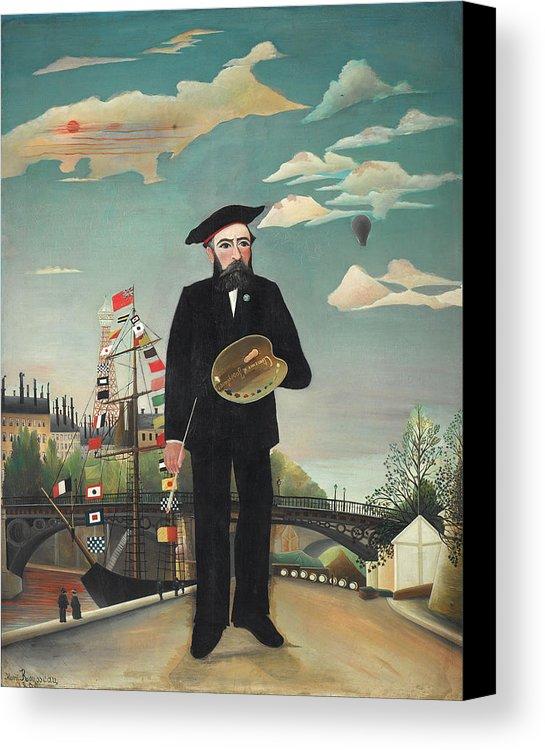 Henri Rousseau Myself: Portrait - Landscape Canvas Print
