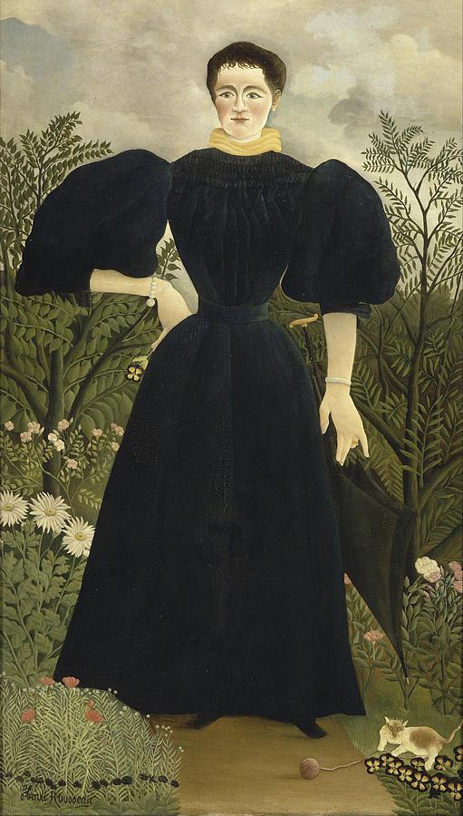 Henri Rousseau Portrait Of Madame M