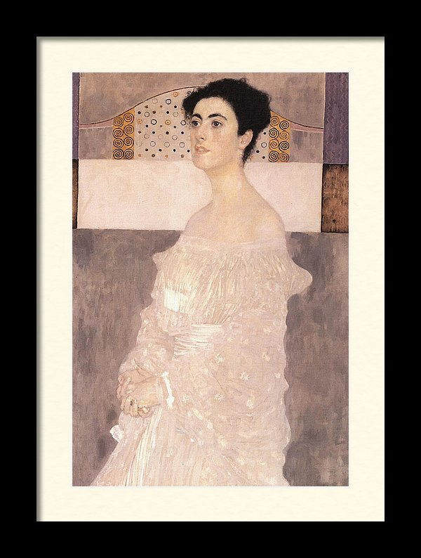 Gustav Klimt Portrait Of Margaret Stonborough-Wittgenstein Framed Art Print