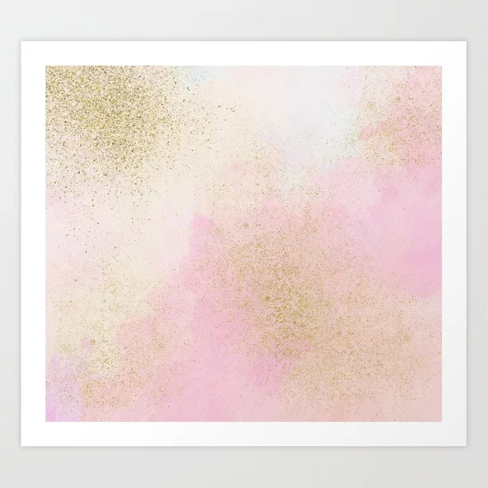 Pretty In Pink And Gold Art Print