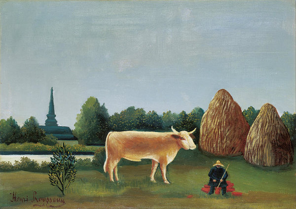 Henri Rousseau Scene In Bagneux