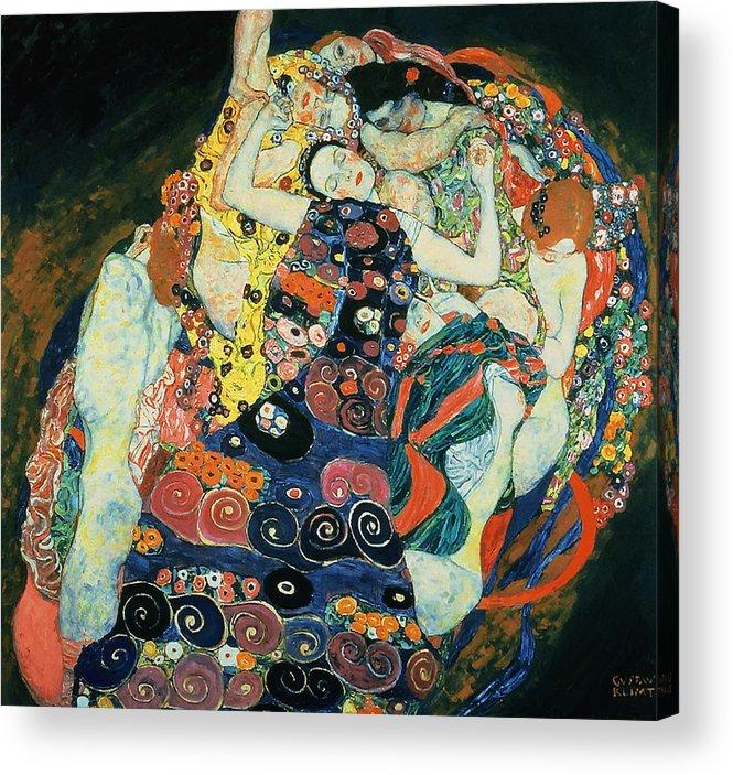 Gustav Klimt The Maiden Acrylic Print