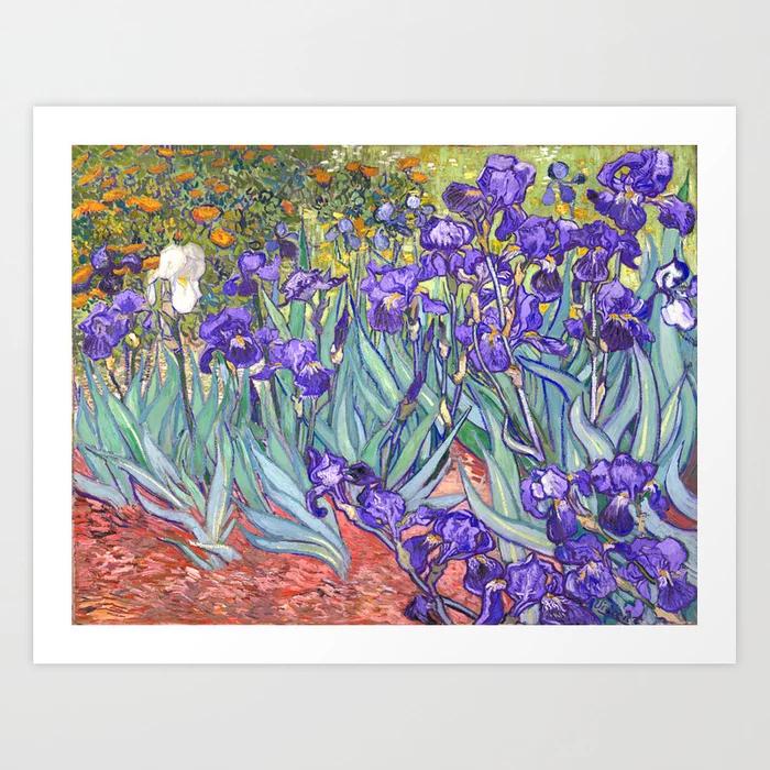 Vincent Van Gogh Purple Irises Art Print