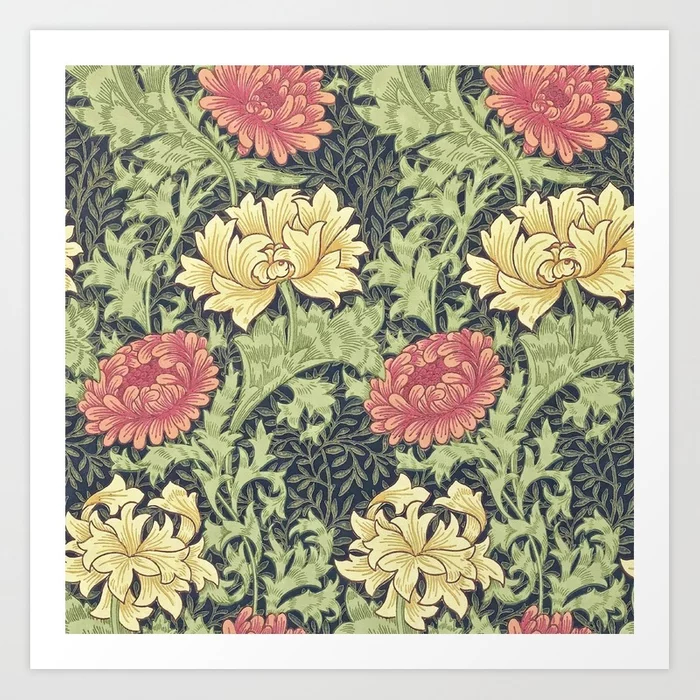William Morris Chrysanthemum Art Print