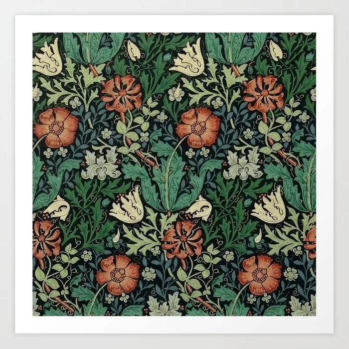 William Morris Compton Floral Art Nouveau Art Print