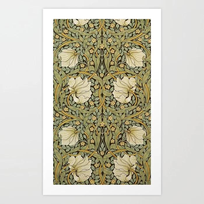 William Morris Pimpernel Art Nouveau Art Print