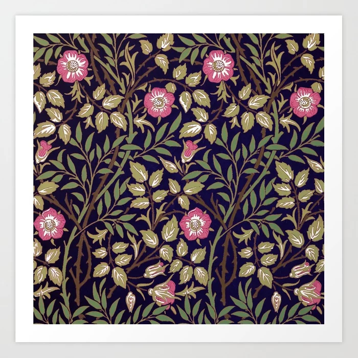 William Morris Sweet Briar Floral Art Nouveau Art Print