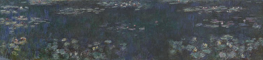 Claude Monet The Water Lilies, Green Reflections