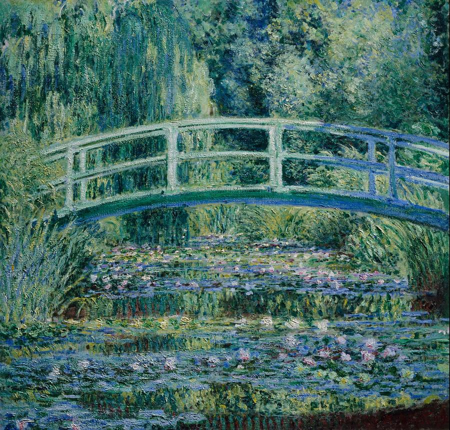 Claude Monet Water Lilies And Japanese Bridge