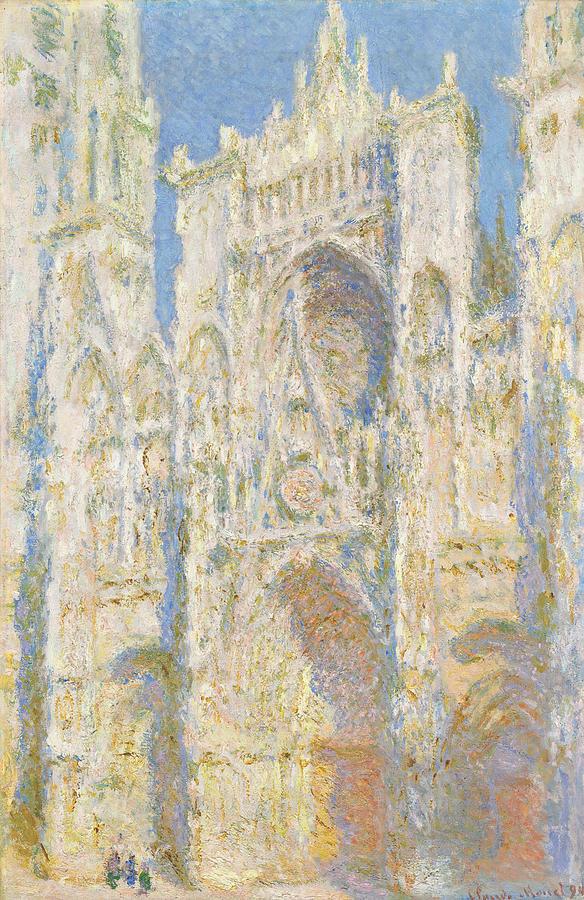 Claude Monet Rouen Cathedral West Facade, Sunlight