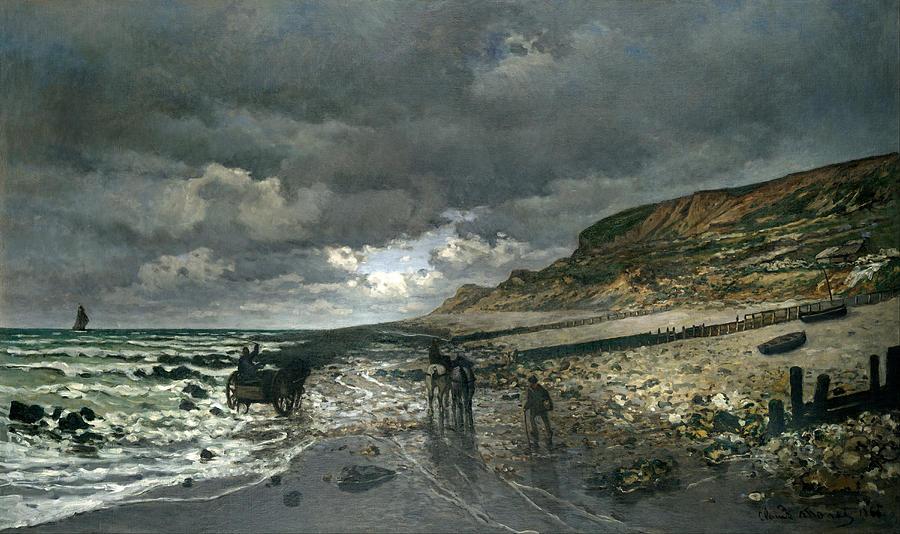Claude Monet La Pointe De La Heve At Low Tide