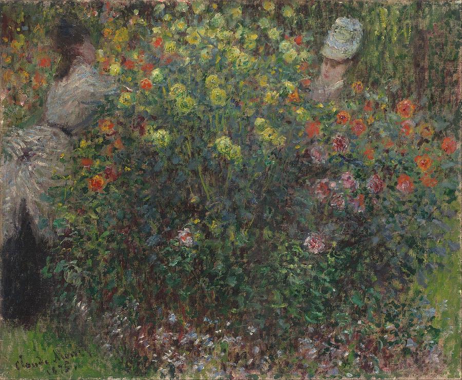 Claude Monet Ladies In Flowers
