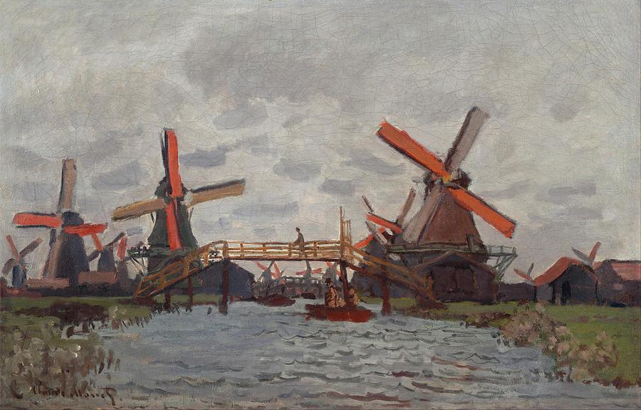 Claude Monet Mills At Westzijderveld