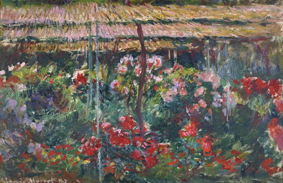 Claude Monet Peony Garden