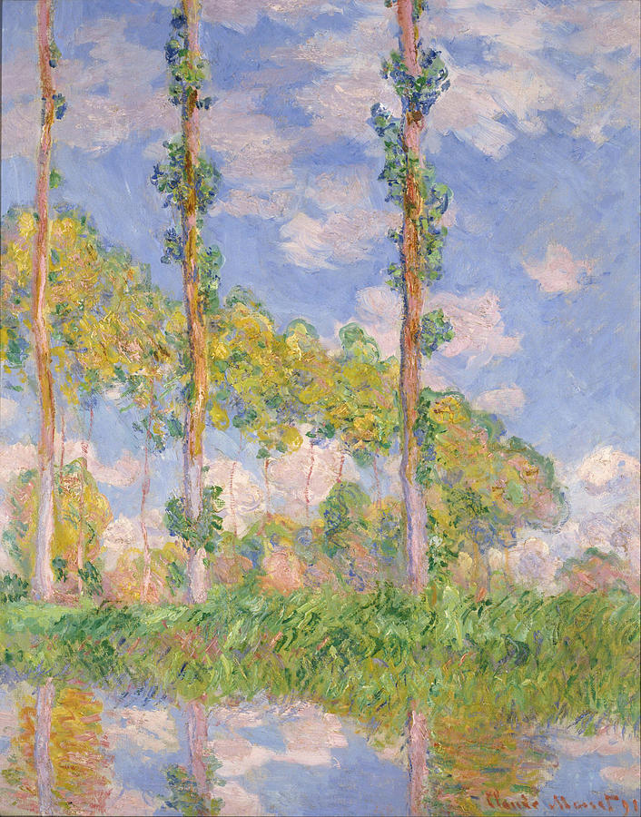 Claude Monet Poplars In The Sun