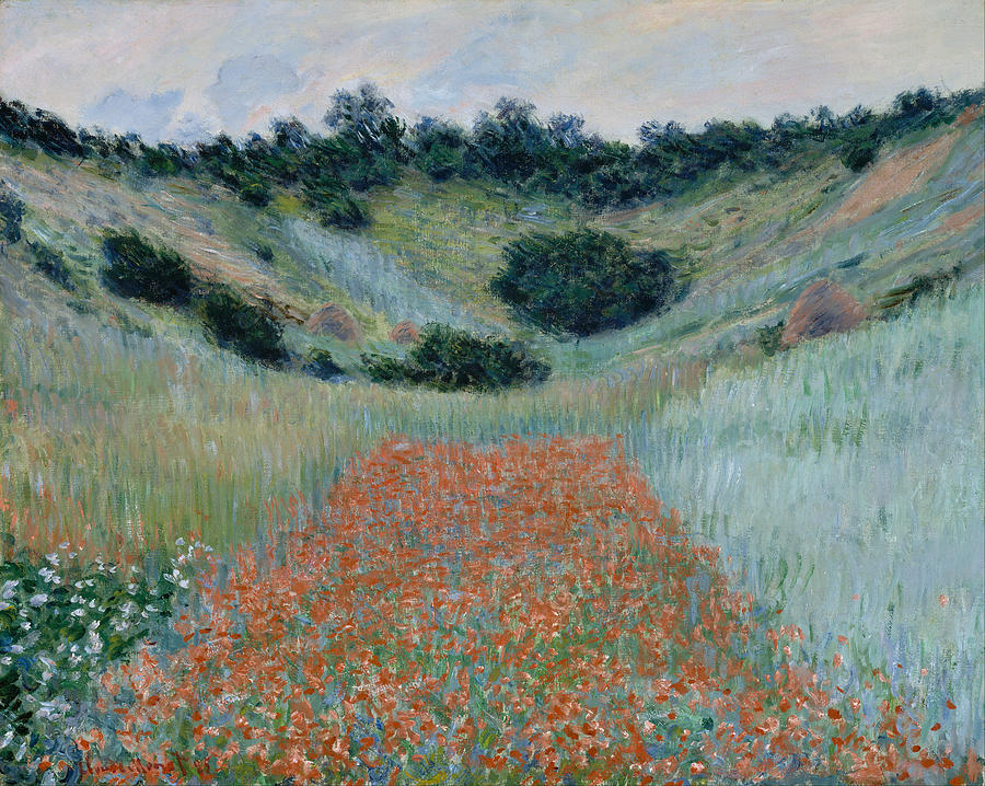 Claude Monet Poppy Field In A Hollow Near Giverny