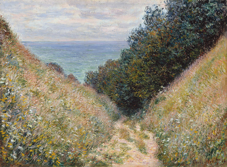 Claude Monet Road At La Cavee