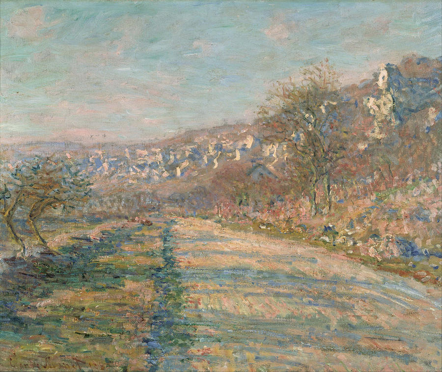 Claude Monet Road Of La Roche Guyon