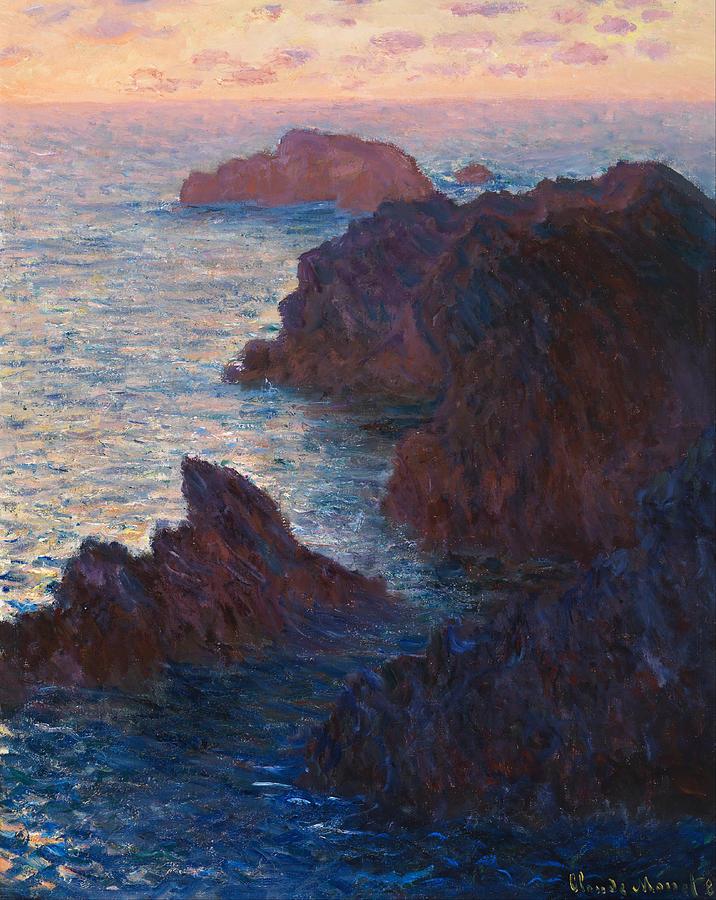 Claude Monet Rocks At Belle-Ile, Port-Domois