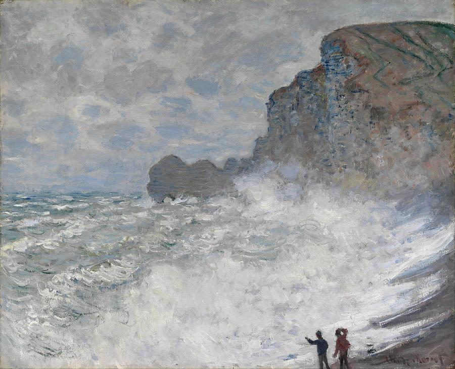Claude Monet Rough Weather At Etretat