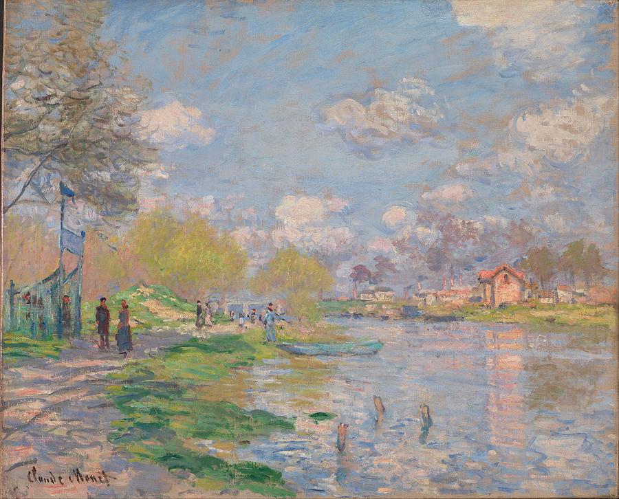 Claude Monet Spring By The Seine