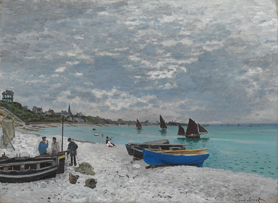 Claude Monet The Beach At Sainte-Adresse