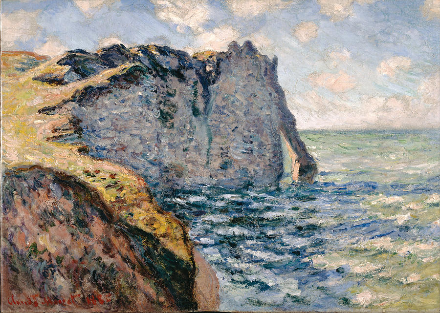 Claude Monet The Cliff Of Aval
